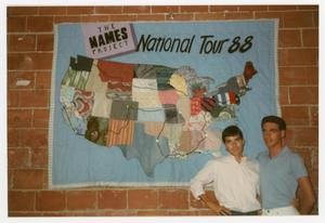 Primary view of [Quilt Panel With Map of the Names Project Tour in 1988]