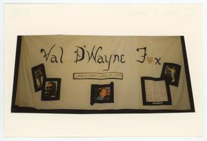 Primary view of object titled '[AIDS Memorial Quilt Panel for Val D' Wayne Fox]'.