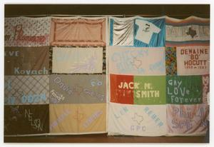 Primary view of object titled '[AIDS Memorial Quilt Displayed at the Names Project Tour]'.