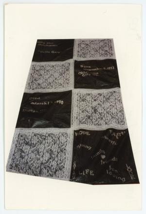 Primary view of object titled '[AIDS Memorial Quilt Panel for Gary Don Hutchinson]'.