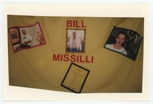 Primary view of object titled '[AIDS Memorial Quilt Panel for Bill Stephen Missilli]'.