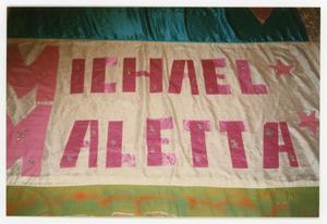 Primary view of object titled '[Quilt Panel for Michael Maletta]'.
