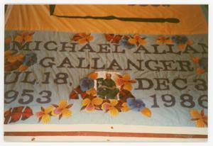 Primary view of object titled '[Quilt Panel for Michael Allan Gallanger]'.