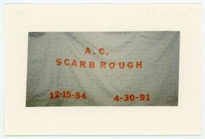 Primary view of object titled '[AIDS Memorial Quilt Panel for A. C. Scarbrough]'.