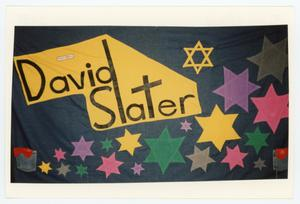 Primary view of object titled '[AIDS Memorial Quilt Panel for David Slater]'.