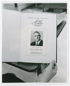 Primary view of object titled '[Photograph of George F. Richards, Jr.]'.