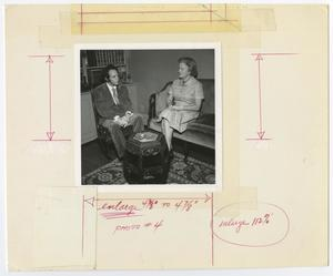 Primary view of object titled '[Man and Woman Facing Each Other in Conversation]'.