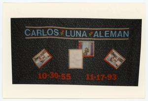 Primary view of object titled '[AIDS Memorial Quilt Panel for Carlos Luna Aleman]'.