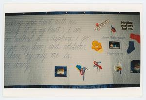 Primary view of object titled '[AIDS Memorial Quilt Panel for Aaron Phillip Nelson]'.