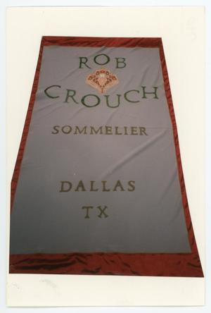 Primary view of object titled '[AIDS Memorial Quilt Panel for Rob Crouch]'.