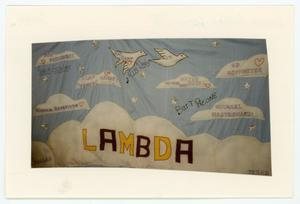 Primary view of object titled '[AIDS Memorial Quilt Panel for Lambda Bowling League III]'.