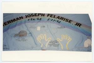 Primary view of object titled '[AIDS Memorial Quilt Panel for Herman Joseph Felarise, Jr.]'.