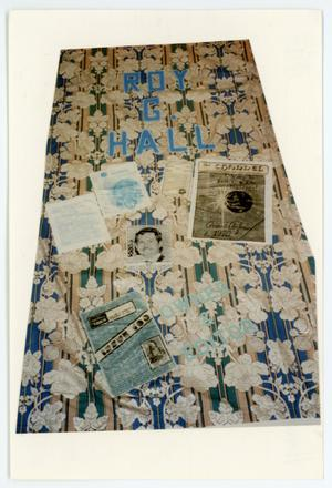 Primary view of object titled '[AIDS Memorial Quilt Panel for Roy G. Hall]'.