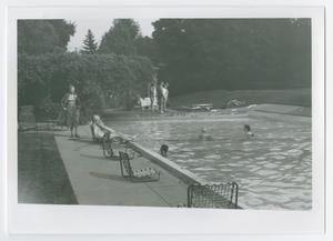 "Primary view of object titled '[""Poolside at Wingspread""]'."