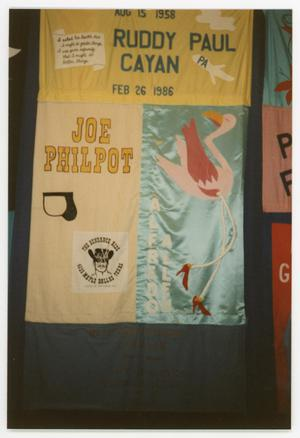 Primary view of object titled '[Quilt Panel for Ruddy Paul Cayan and Joe Philpot]'.