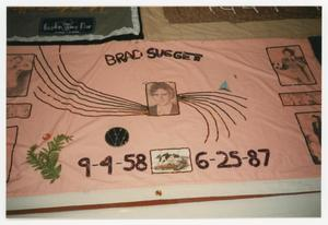 Primary view of object titled '[AIDS Memorial Quilt Panel for Brad Suggett]'.