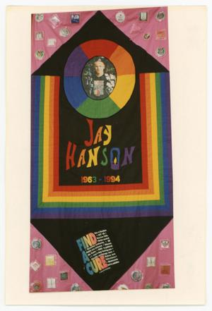 Primary view of object titled '[AIDS Memorial Quilt Panel for Jay Hanson]'.