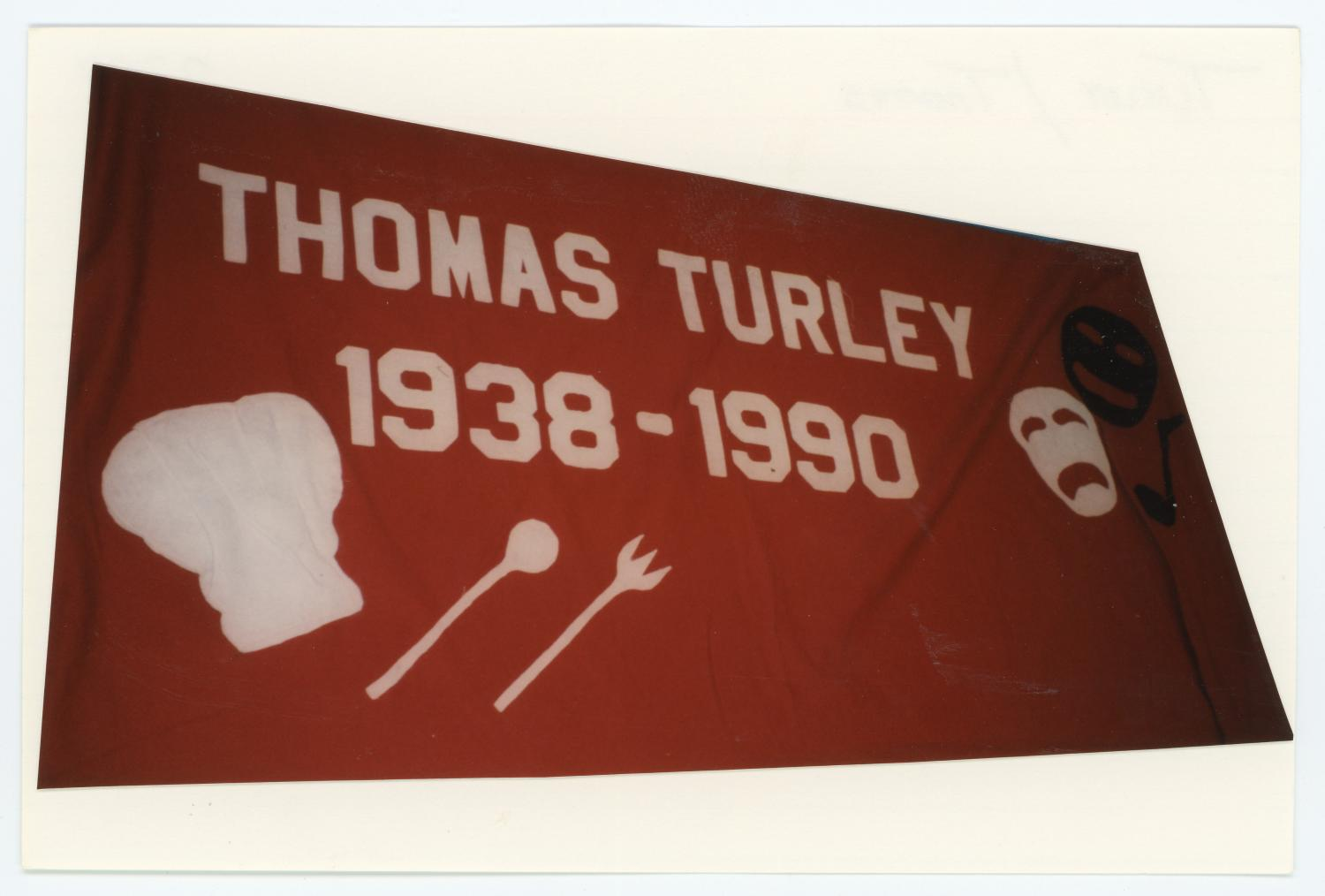 [AIDS Memorial Quilt Panel for Thomas Turley]                                                                                                      [Sequence #]: 1 of 2