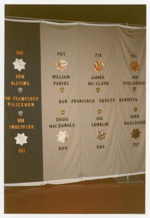 Primary view of object titled '[Quilt Panel for the San Francisco Policemen]'.