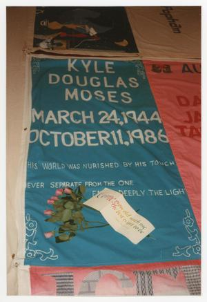 Primary view of object titled '[AIDS Memorial Quilt Panel for Kyle Douglas Moses]'.