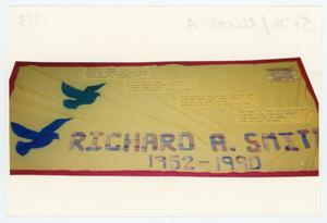 Primary view of object titled '[AIDS Memorial Quilt Panel for Richard A. Smith]'.