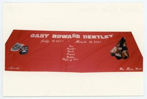 Primary view of object titled '[AIDS Memorial Quilt Panel for Gary Howard Bentley]'.