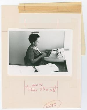 Primary view of object titled '[Women Typing on a Typewrite]'.