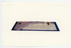 Primary view of object titled '[AIDS Memorial Quilt Panel for Darin DuBose]'.
