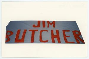 Primary view of object titled '[AIDS Memorial Quilt Panel for James Butcher]'.