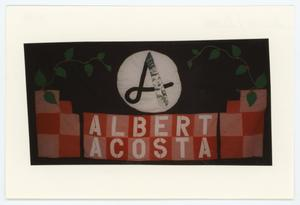 Primary view of object titled '[AIDS Memorial Quilt Panel for Albert Acosta]'.