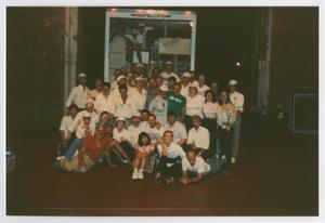 Primary view of object titled '[Group Photo of Patrons at AIDS Quilt Presentation 2]'.