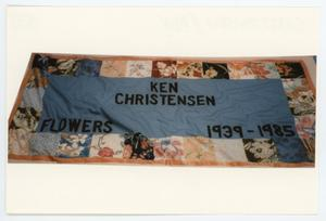 Primary view of object titled '[AIDS Memorial Quilt Panel for Ken Christensen]'.