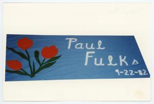 Primary view of object titled '[AIDS Memorial Quilt Panel for Paul Fulks]'.