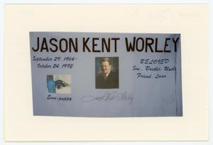 Primary view of object titled '[AIDS Memorial Quilt Panel for Jason Kent Worley]'.