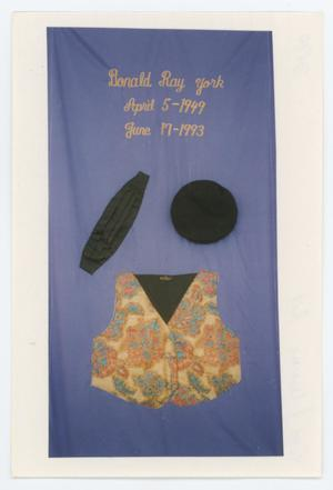 Primary view of object titled '[AIDS Memorial Quilt Panel for Donald Ray York]'.