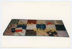 Primary view of object titled '[AIDS Memorial Quilt Panel for Kelly Weldon]'.
