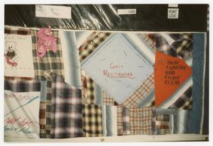 Primary view of object titled '[AIDS Memorial Quilt Panel for Gary Reuthinger]'.