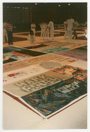 Primary view of object titled '[Viewing and Discussing of the AIDS Memorial Quilts]'.