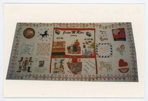 "Primary view of object titled '[AIDS Memorial Quilt Panel for Juan M. ""Johnny"" Rios]'."