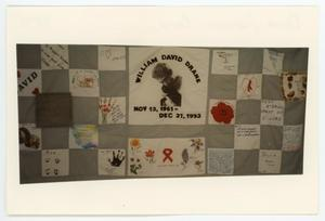 Primary view of object titled '[AIDS Memorial Quilt Panel for William David Drane]'.