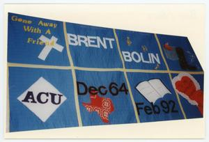 Primary view of object titled '[AIDS Memorial Quilt Panel for Brent Bolin]'.