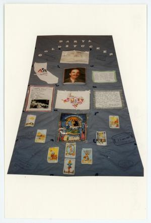 Primary view of object titled '[AIDS Memorial Quilt Panel for Daryl Leo Goldstucker]'.