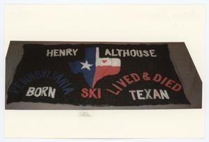 Primary view of object titled '[AIDS Memorial Quilt Panel for Henry Althouse]'.