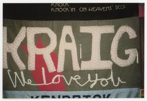 Primary view of object titled '[AIDS Memorial Quilt Panel for Kraig]'.