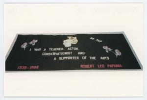 Primary view of object titled '[AIDS Memorial Quilt Panel for Robert Leo Papania]'.