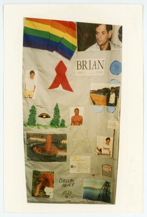 Primary view of object titled '[AIDS Memorial Quilt Panel for Brian Halliday]'.