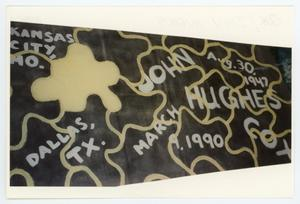 Primary view of object titled '[AIDS Memorial Quilt Panel for John Hughes Cox]'.