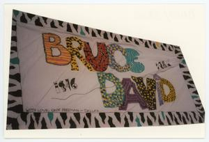 Primary view of object titled '[AIDS Memorial Quilt Panel for Bruce David]'.