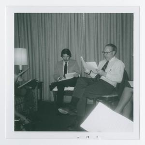 Primary view of object titled '[Two Men Sitting and Reading]'.