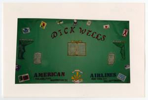 Primary view of object titled '[AIDS Memorial Quilt Panel for Dick Wells]'.